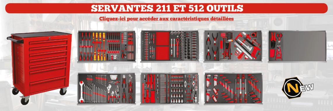 Fiches techniques servantes 211 et 512 outils