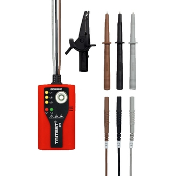 TRITEST® Pro<br />Indicateur professionnel d'ordre de phases avec lampe de poche LED à haute performance