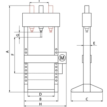 Presses hydrauliques 10 et 15 T